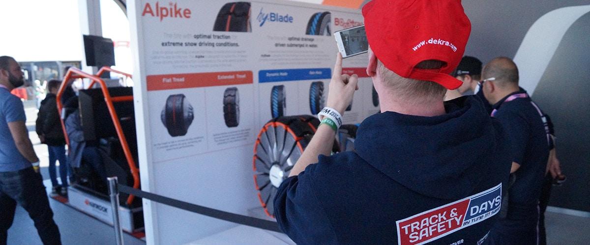 Track and Safety Daays Aussteller Stand Reifen