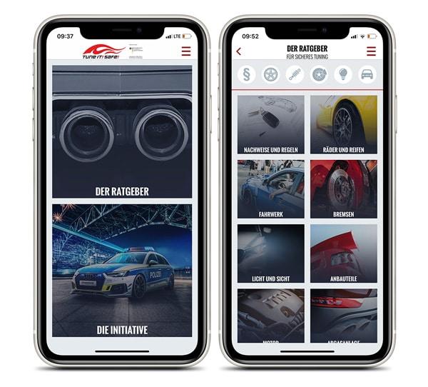 Tune It Safe Tuning Ratgeber App auf iPhone